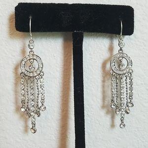 Monet Rhinestone Chandelier Earrings